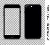 realistic jet black smartphone...