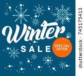ultimate winter sale banner...   Shutterstock .eps vector #745175413