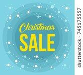 ultimate christmas sale banner... | Shutterstock .eps vector #745175557
