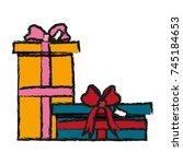 gift boxes design | Shutterstock .eps vector #745184653