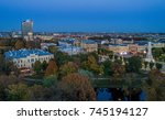 beautiful view over riga centre ... | Shutterstock . vector #745194127