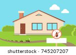 pest control concept with... | Shutterstock . vector #745207207
