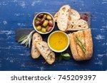 mediterranean snacks set....   Shutterstock . vector #745209397