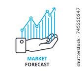 market forecast concept  ... | Shutterstock .eps vector #745220347