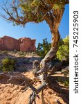 Small photo of Double Arch Trail at Arches National Park in Moab, Utah USA