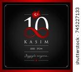 10 kasim vector illustration. ...   Shutterstock .eps vector #745227133