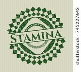 green stamina distressed rubber ... | Shutterstock .eps vector #745227643