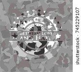 between love and hate grey... | Shutterstock .eps vector #745229107