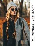seasonal autumn fashion. modern ... | Shutterstock . vector #745232947