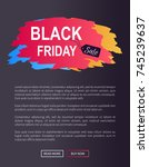 black friday sale web promo... | Shutterstock .eps vector #745239637