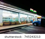 blurred image in the front of... | Shutterstock . vector #745243213