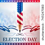 united states vote.american... | Shutterstock .eps vector #745247083
