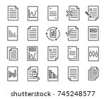 simple collection of document... | Shutterstock .eps vector #745248577