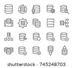 simple set of database related... | Shutterstock .eps vector #745248703