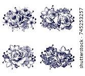 flower set | Shutterstock .eps vector #745253257
