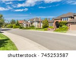 nicely trimmed and manicured... | Shutterstock . vector #745253587