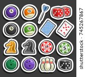 vector set of gaming and... | Shutterstock .eps vector #745267867