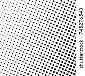 abstract monochrome halftone... | Shutterstock .eps vector #745276543