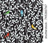 elegant seamless pattern with... | Shutterstock .eps vector #745283767