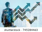 business and growth concept. | Shutterstock . vector #745284463