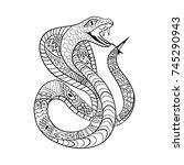 cobra zentangle. ethnic... | Shutterstock .eps vector #745290943