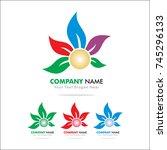 flower logo | Shutterstock .eps vector #745296133
