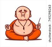 cartoon vector illustration.... | Shutterstock .eps vector #745298263