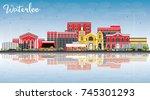 waterloo iowa skyline with...   Shutterstock . vector #745301293