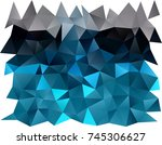 dark blue vector abstract... | Shutterstock .eps vector #745306627