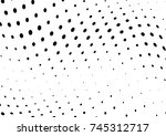 abstract halftone wave dotted... | Shutterstock .eps vector #745312717