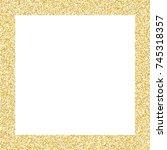 golden small confetti on white...   Shutterstock .eps vector #745318357