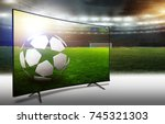 ball on the soccer field | Shutterstock . vector #745321303