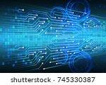 binary circuit board future...   Shutterstock .eps vector #745330387