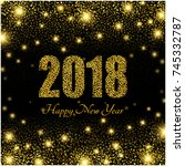 happy new year 2018.abstract... | Shutterstock .eps vector #745332787
