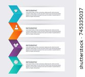 vector colorful info graphics... | Shutterstock .eps vector #745335037