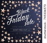 black friday sale banner... | Shutterstock .eps vector #745336573