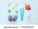 baby set of item and... | Shutterstock . vector #745339237