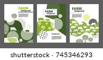 agricultural brochure layout... | Shutterstock .eps vector #745346293
