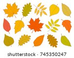 hand drawn set of isolated...   Shutterstock .eps vector #745350247