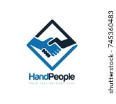 handshake people deal logo... | Shutterstock .eps vector #745360483