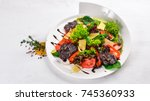 beef salad and fresh vegetables....