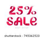 sale vector illustration. red... | Shutterstock .eps vector #745362523