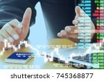 business man digital stock... | Shutterstock . vector #745368877