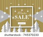 christmas sale vector | Shutterstock .eps vector #745370233