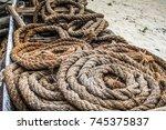 details of fisherman boats ... | Shutterstock . vector #745375837