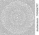 illustration of maze labyrinth. ... | Shutterstock . vector #745406797
