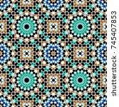 morocco seamless pattern.... | Shutterstock .eps vector #745407853
