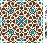 morocco seamless pattern.... | Shutterstock .eps vector #745407877