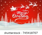 christmas greeting card holiday ... | Shutterstock .eps vector #745418707