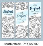 vector banner template hand...   Shutterstock .eps vector #745422487